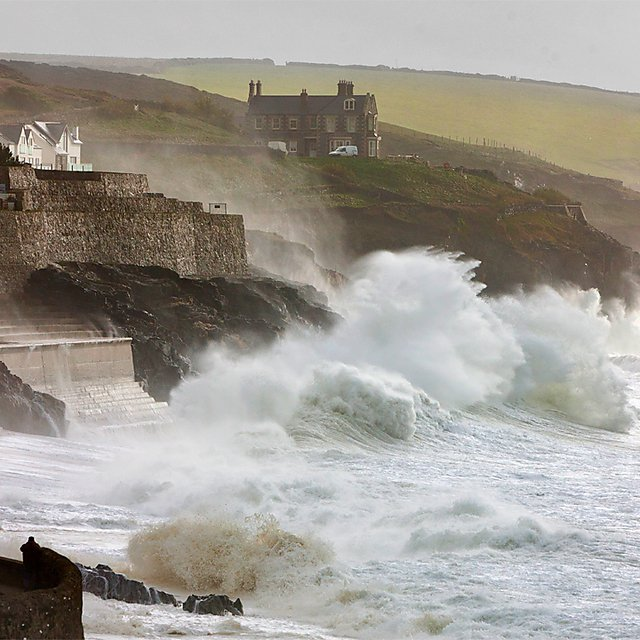 <p>Coastal research at Porthleven, Cornwall</p>
