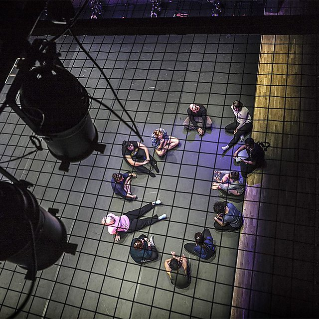 <p>The House stage viewed from above</p>