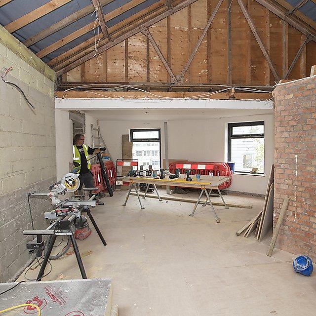 <p>During refurbishment of Kirkby Lodge</p>