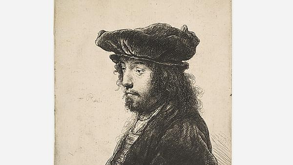 <p>                 Etching by Rembrandt van Rijn, c.1635. By courtesy of the Metropolitan Museum of Art, New York.<br></p>