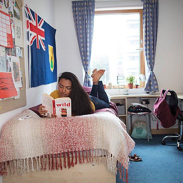 <p>Accommodation inside halls</p>