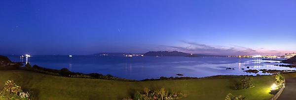 <p>Looking out across Plymouth Sound towards Mount Edgcumbe and the Hoe.</p>