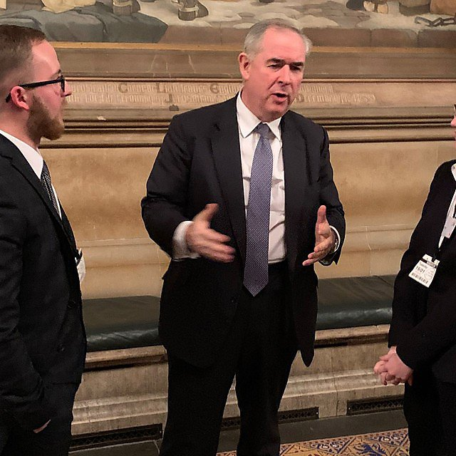 <p>Jon Loates and Claire Knight with the Rt Hon Geoffrey Cox QC MP<br></p>