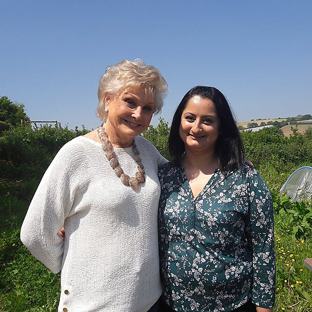 <p>Tina Joshi and Angela Rippon</p>