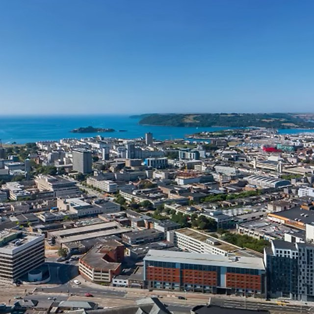 <p>Plymouth city skyline</p>