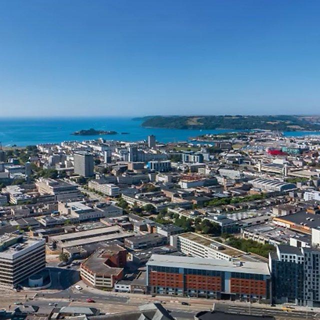 <p>Plymouth city skyline</p>