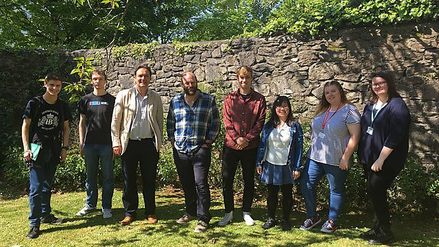 <p>University of Plymouth History students who worked on the Histories of the Unexpected</p>