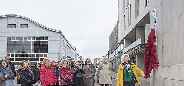 <p>  Plymouth's first woman doctor and suffragist Rosa Bale GP blue plaque unveiling at the Portland Square Building in December 2018 by Anne Corry from the University of the Third Age.<br></p>