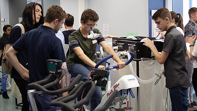 <p>Exercise Physiology lab, 