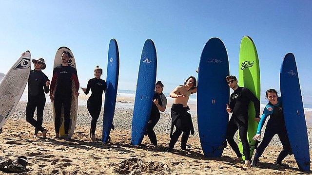 <p>Freya Kay surf</p>