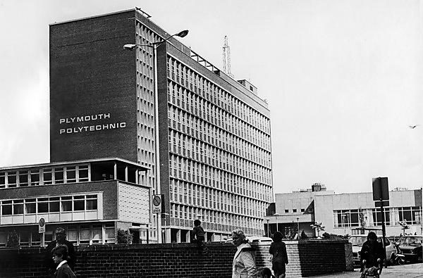 An archive photo of Plymouth Polytechnic in the 1970s, now called Davy Building