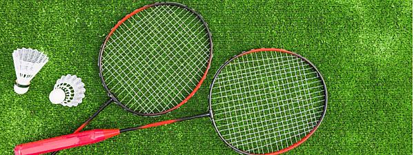 <p>Badminton equipment</p>