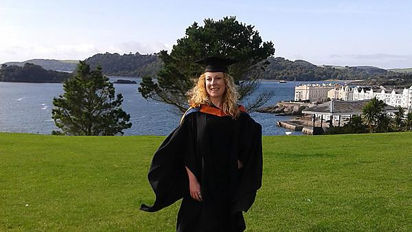 Amy at graduation