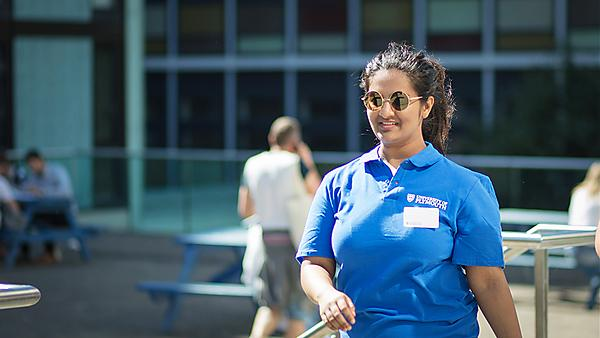<p>Student ambassador at an open day<br></p>