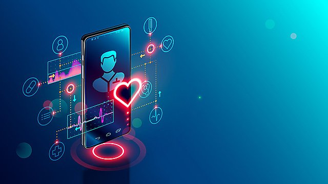 <p>Online tele medicine isometric concept. Medical consultation and treatment via application of smartphone connected internet clinic.<br></p>