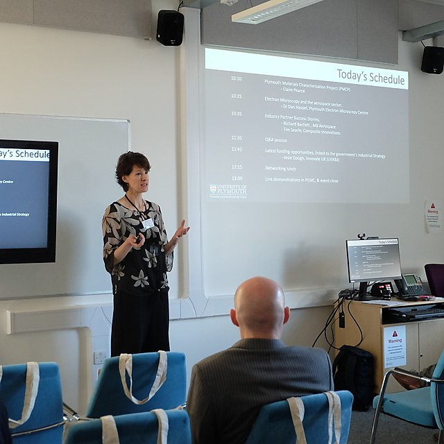 <p>Claire Pearce welcoming delegates to the event<br></p>