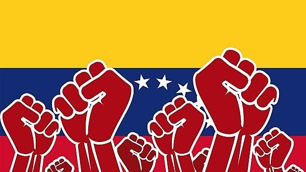 <p>Revolution and flag of Venezuela<br></p>