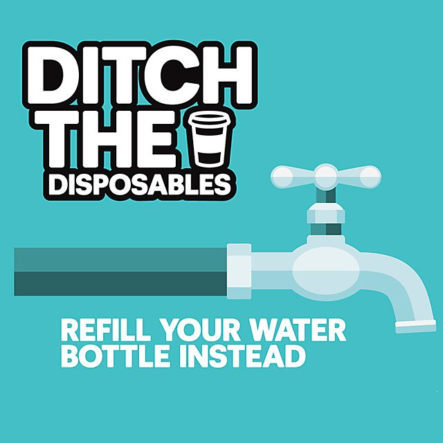Ditch the disposables graphic image