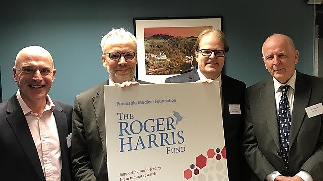 <p>Roger Harris Fund launch -&nbsp;(L-R) Roger's son Vaughn Harris; Professor Oliver Hanemann, 