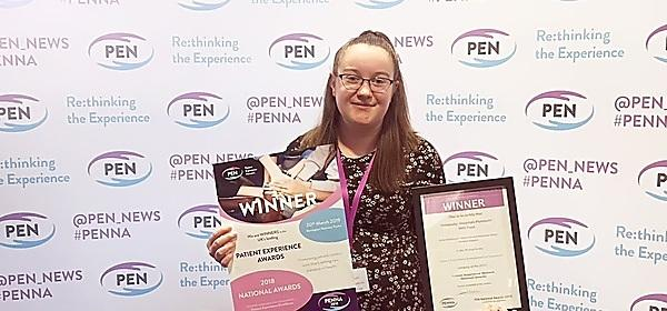 Plymouth student wins national award for commitment to patients