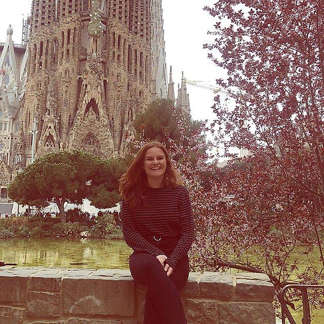 <p>Ella Croft Barcelona La Sagrada Familia</p>