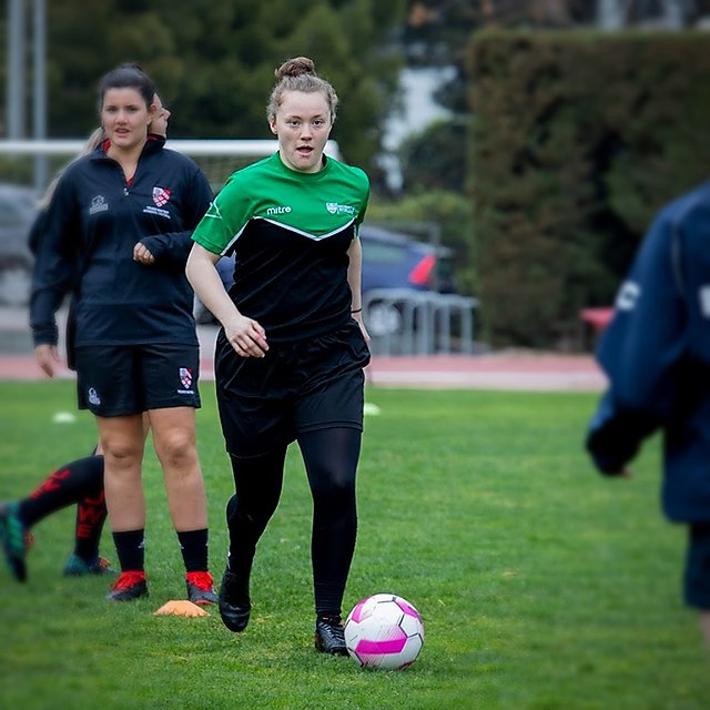 <p>Santander Universities Women's football training session Barcelona</p>
