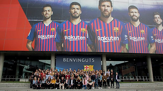 <p>Santander Universities Camp Nou stadium visit</p>