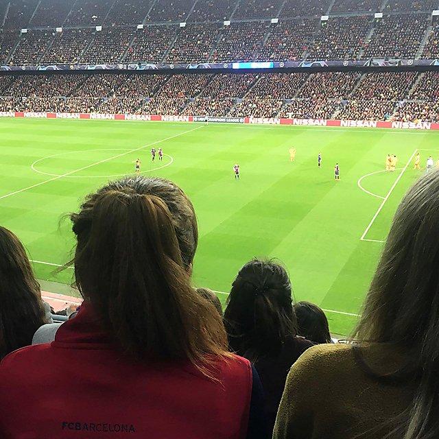<p>Ella Croft FC Barcelona match</p>