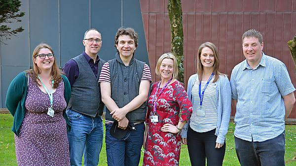 <p>The University's Papin Prizes nominees (from left) are Marie Palmer, Tim Absalom, Shaun Lewin, Dr Jodie Fisher, Jane Thorning and Jamie Quinn<br></p>