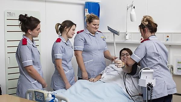 <p>Exeter School of Nursing - nursing students</p>