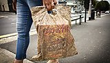 Biodegradable bags can hold a full load of shopping after three years in the environment