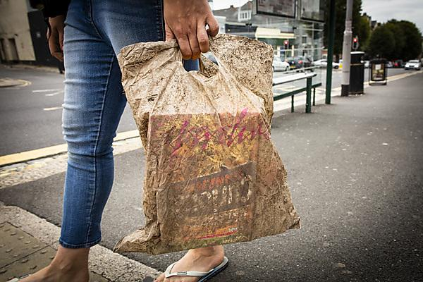 Biodegradable bags can hold a full load of shopping three years after being discarded in the environment