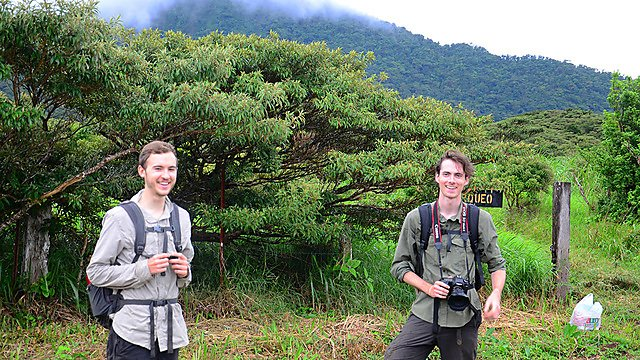 <p>Alex Edwards and colleague in Costa Rica.</p>