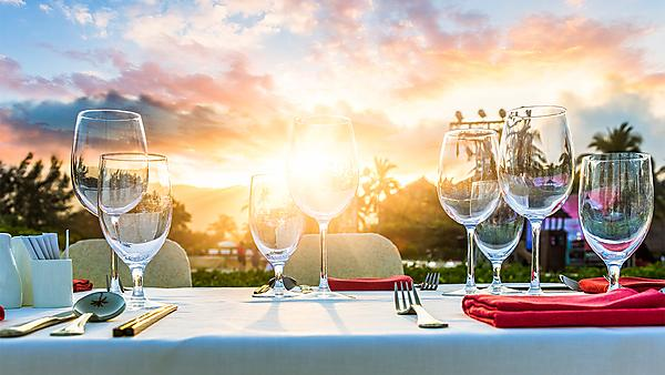 <p>Table setting by the beach tourism hospitality and events</p>
