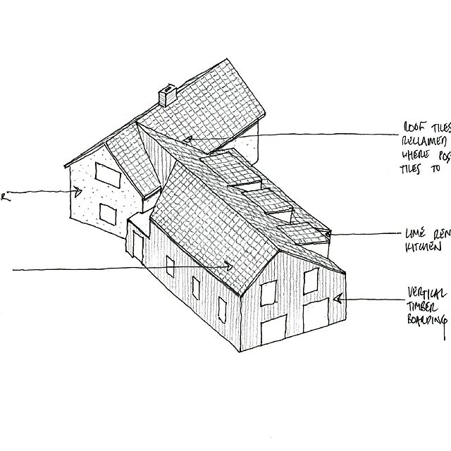 <p>Hudson Architects cob building sketch</p>