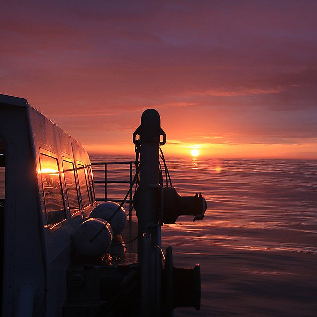 <p>Sunset on board Falcon Spirit</p>