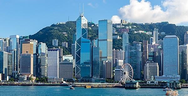 <p>Hong Kong harbour</p>