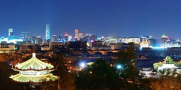 <p>Beijing at night</p>