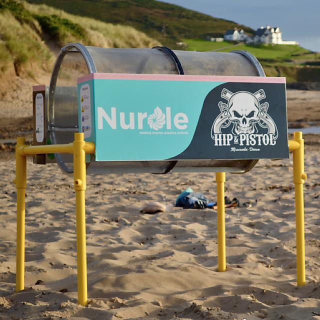 <p>A trommel on the beach</p>