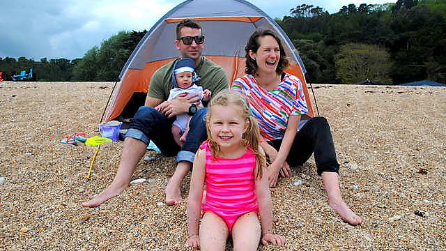 <p>Dan, Emily and family (SEI Waves Project)</p>