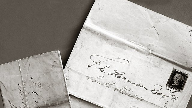 <p>Old wax-sealed letter</p>