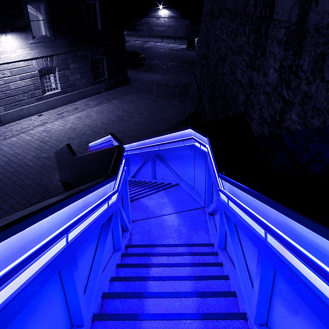 <p>Stairs at Royal William yard - Getty Images</p>