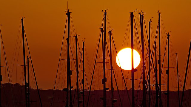 <p>Sunshine over yachts in Plymouth. Getty Images</p>