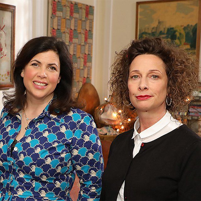 <p>Polly Macpherson and Kirstie Allsopp (Image: Raise the Roof Productions)