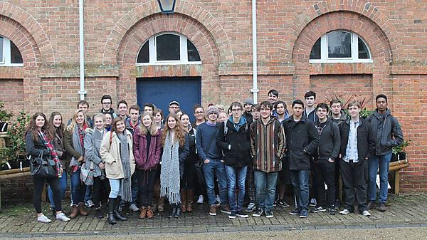 BA (Hons) History students on a day trip to Saltram house