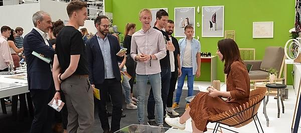 <p>Huw Evans at New Designers 2019</p>