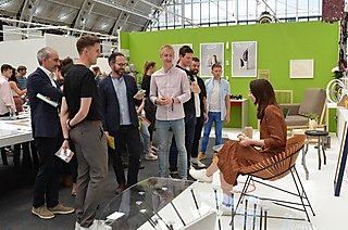 Huw during judging at New Designers 2019