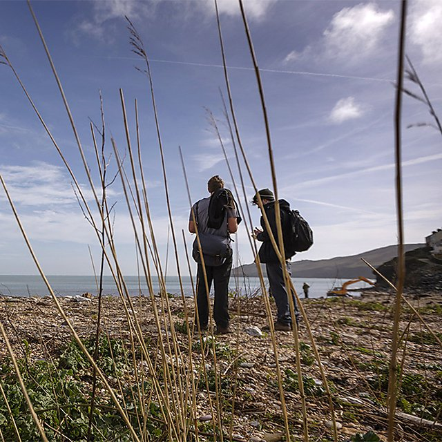<p>  Geography students on a fieldtrip to Start Point, South Devon<br></p>