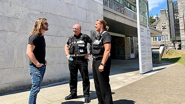 Plymouth University security officer on patrol