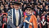 Professor Dame Sally Davies with Professor Jerry Roberts